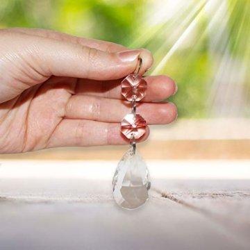 Kristall-Perlen Kronleuchter Tropfen (20 Stck.) - 3,8cm Teardrops - Kristall Glas Prisma Anhänger Perlen für Decken Tropfen Lichtbrechung, Hochzeit baum Dekoration Schmuckherstellung DIY Kunstprojekte - 3