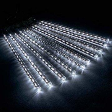 Lichterregen Meteorschauer 180 LED weiß Lichterkette Meteor-Effekt Partylicht Meteorlichter Weihnachtsbeleuchtung Partydeko Trafo Timer Xmas - 3