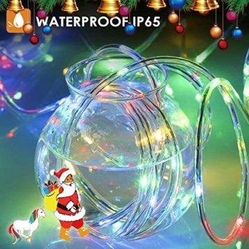 Lichterschlauch außen B-right 336 Led 20M Lichterkette außen bunt,Lichterkette strombetrieben mit Fernbedienung,Lichtschläuche Weihnachtsbeleuchtung für Weihnachten Balkon Hochzeit Weihnachtsbaum - 2