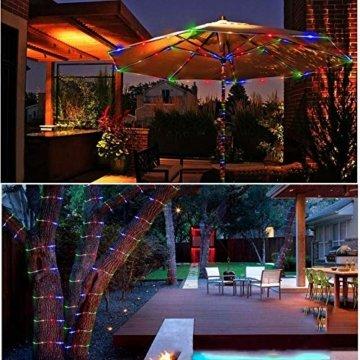Lichterschlauch außen B-right 336 Led 20M Lichterkette außen bunt,Lichterkette strombetrieben mit Fernbedienung,Lichtschläuche Weihnachtsbeleuchtung für Weihnachten Balkon Hochzeit Weihnachtsbaum - 4