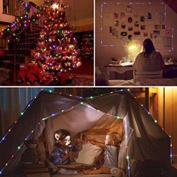 Lichterschlauch außen B-right 336 Led 20M Lichterkette außen bunt,Lichterkette strombetrieben mit Fernbedienung,Lichtschläuche Weihnachtsbeleuchtung für Weihnachten Balkon Hochzeit Weihnachtsbaum - 5