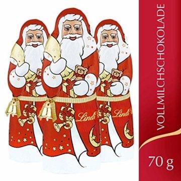 Lindt Weihnachtsmänner Vollmilchschokolade, 3er pack (3 x 70g) - 6