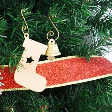 Livder Hängehaken für Weihnachtsbaumschmuck, Metallhaken, S-Form, 120 Stück, Metall, goldfarben, 1.57 inch - 4