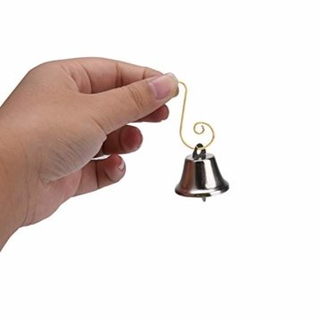 Livder Hängehaken für Weihnachtsbaumschmuck, Metallhaken, S-Form, 120 Stück, Metall, goldfarben, 1.57 inch - 6