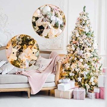 Livder Hängehaken für Weihnachtsbaumschmuck, Metallhaken, S-Form, 120 Stück, Metall, goldfarben, 1.57 inch - 7