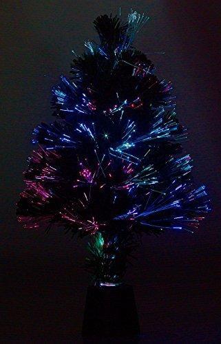 Lunartec Weihnachtsbaum: Deko-Tannenbaum, dreifarbige LED-Beleuchtung, Batteriebetrieb, 45 cm (Glasfaser Weihnachtsbaum) - 2