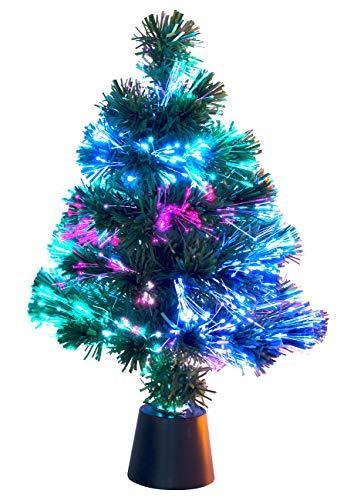 Lunartec Weihnachtsbaum: Deko-Tannenbaum, dreifarbige LED-Beleuchtung, Batteriebetrieb, 45 cm (Glasfaser Weihnachtsbaum) - 3