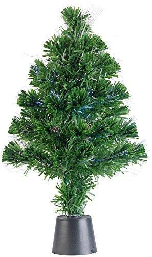 Lunartec Weihnachtsbaum: Deko-Tannenbaum, dreifarbige LED-Beleuchtung, Batteriebetrieb, 45 cm (Glasfaser Weihnachtsbaum) - 4