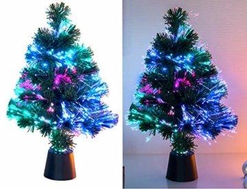 Lunartec Weihnachtsbaum: Deko-Tannenbaum, dreifarbige LED-Beleuchtung, Batteriebetrieb, 45 cm (Glasfaser Weihnachtsbaum) - 1