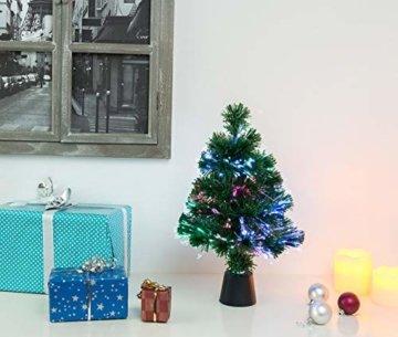 Lunartec Weihnachtsbaum: Deko-Tannenbaum, dreifarbige LED-Beleuchtung, Batteriebetrieb, 45 cm (Glasfaser Weihnachtsbaum) - 5