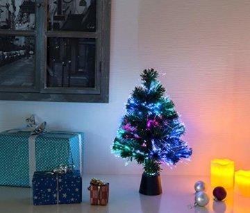 Lunartec Weihnachtsbaum: Deko-Tannenbaum, dreifarbige LED-Beleuchtung, Batteriebetrieb, 45 cm (Glasfaser Weihnachtsbaum) - 6