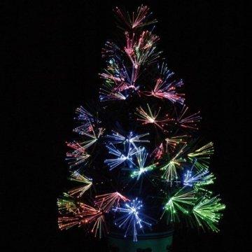 Lunartec Weihnachtsbaum: Deko-Tannenbaum, dreifarbige LED-Beleuchtung, Batteriebetrieb, 45 cm (Glasfaser Weihnachtsbaum) - 8