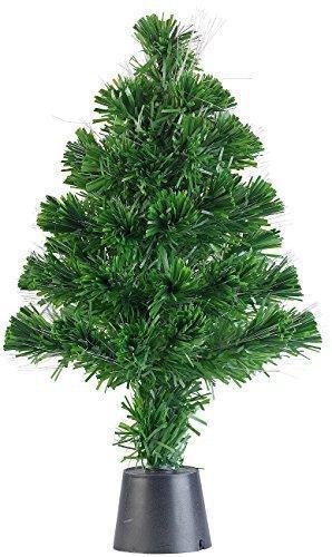Lunartec Weihnachtsbaum: Deko-Tannenbaum, dreifarbige LED-Beleuchtung, Batteriebetrieb, 45 cm (Glasfaser Weihnachtsbaum) - 9