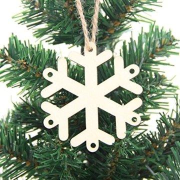 MagiDeal 10 Stück Schneeflocke Holz Geschenk Anhänger Basteln Gift Anhängeetiketten Weihnachtsbaumschmuck - 6