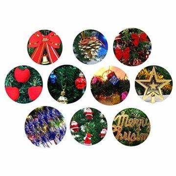 Mini Weihnachtsbaum Puppenhaus Geschmückt, Buntes Glühen Mini Weihnachtsbaum Geschmückt, Christbaum Grün, Geeignet Für Weihnachtsdekoration, Heimtextilien - 4