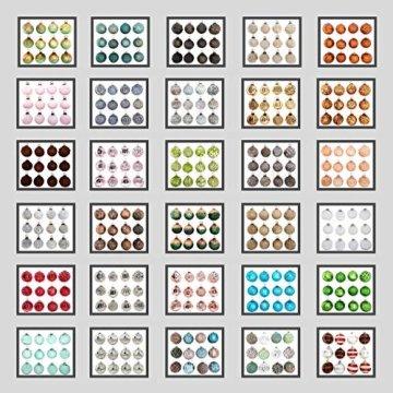 My-goodbuy24 Premium Weihnachtskugeln 12-teiliges Set Echtglas Glaskugeln Weihnachten Weihnachtsdeko Tannenbaumkugeln Glas Christbaumkugeln 7-8 cm I196 - 2