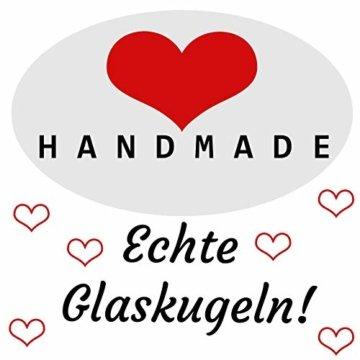 My-goodbuy24 Premium Weihnachtskugeln 12-teiliges Set Echtglas Glaskugeln Weihnachten Weihnachtsdeko Tannenbaumkugeln Glas Christbaumkugeln 7-8 cm I196 - 4