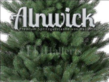 Original Hallerts® Spritzguss Weihnachtsbaum Alnwick 120 cm als Nordmanntanne - Christbaum zu 100% in Spritzguss PlasTip® Qualität - schwer entflammbar nach B1 Norm, Material TÜV und SGS geprüft - Premium Spritzgusstanne - 3