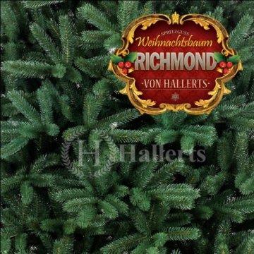 Original Hallerts® Spritzguss Weihnachtsbaum Richmond 210 cm als Edeltanne - Christbaum zu 100% in Spritzguss PlasTip® Qualität - schwer entflammbar nach B1 Norm, Material TÜV und SGS geprüft - Premium Spritzgusstanne - 2