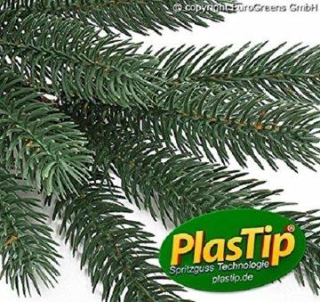 Original Hallerts® Spritzguss Weihnachtsbaum Richmond 210 cm als Edeltanne - Christbaum zu 100% in Spritzguss PlasTip® Qualität - schwer entflammbar nach B1 Norm, Material TÜV und SGS geprüft - Premium Spritzgusstanne - 3
