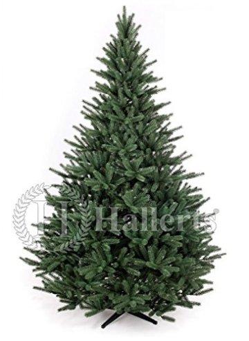 Original Hallerts® Spritzguss Weihnachtsbaum Richmond 210 cm als Edeltanne - Christbaum zu 100% in Spritzguss PlasTip® Qualität - schwer entflammbar nach B1 Norm, Material TÜV und SGS geprüft - Premium Spritzgusstanne - 1