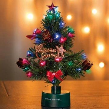 PEARL LED Weihnachtsbaum klein: LED-Weihnachtsbaum mit Glasfaser-Farbwechsler (Mini Weihnachtsbaum fürs Auto) - 3