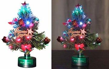 PEARL LED Weihnachtsbaum klein: LED-Weihnachtsbaum mit Glasfaser-Farbwechsler (Mini Weihnachtsbaum fürs Auto) - 1