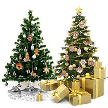Pixnor Weihnachtsbaumschmuck, Kekse, Schneeflocke, Dekoration mit Aufhängern, Pack mit 17 Stück - 4