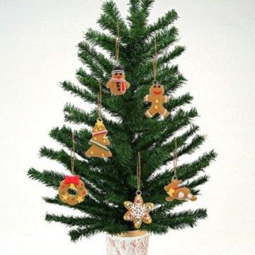 Pixnor Weihnachtsbaumschmuck, Kekse, Schneeflocke, Dekoration mit Aufhängern, Pack mit 17 Stück - 5