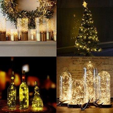 Qedertek Lichterkette Weihnachtsbaum, 200 LED Warmweiß Lichterkette Außen mit Steckdose, 20M Weihnachtsbeleuchtung mit Fernbedienung, Timer und Speicherfunktion, Weihnachtsdekoration für Garten - 4