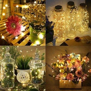 Qedertek Lichterkette Weihnachtsbaum, 200 LED Warmweiß Lichterkette Außen mit Steckdose, 20M Weihnachtsbeleuchtung mit Fernbedienung, Timer und Speicherfunktion, Weihnachtsdekoration für Garten - 5