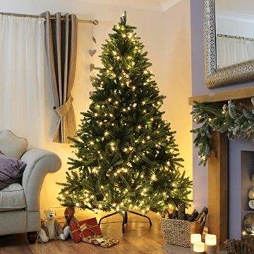 Qedertek Lichterkette Weihnachtsbaum, 200 LED Warmweiß Lichterkette Außen mit Steckdose, 20M Weihnachtsbeleuchtung mit Fernbedienung, Timer und Speicherfunktion, Weihnachtsdekoration für Garten - 6
