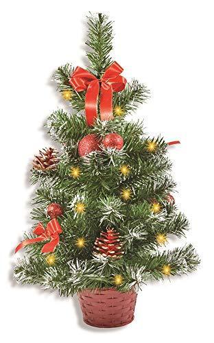 Riffelmacher Geschmückter Weihnachtsbaum beleuchtet 50cm 20259 - Rot - 1