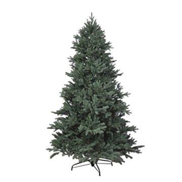 RS Trade HXT 1418 künstlicher PE Spritzguss Weihnachtsbaum 150 cm (Ø ca. 106 cm) mit ca. 2375 Spitzen, schwer entflammbarer Tannenbaum mit Schnellaufbau Klappsysem, inkl. Metall Christbaum Ständer - 1