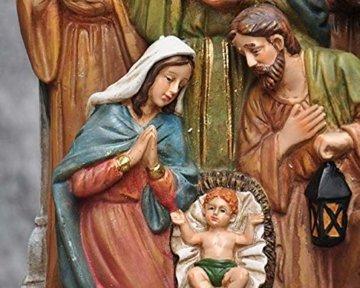 Schöne Krippe Figur, Krippe Familienskulptur Statue Harz katholische Religion Modell Kirche Kirche Dekoration - 4