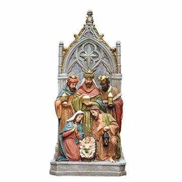 Schöne Krippe Figur, Krippe Familienskulptur Statue Harz katholische Religion Modell Kirche Kirche Dekoration - 1