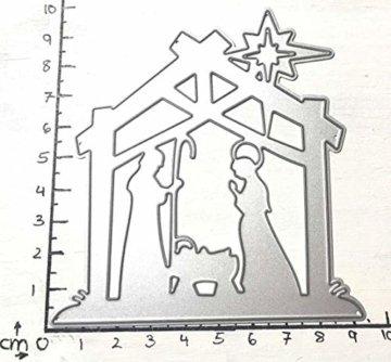 Simplelettering Stanzschablone/Cutting Dies Krippe Weihnachten geeignet für Big Shot - 3