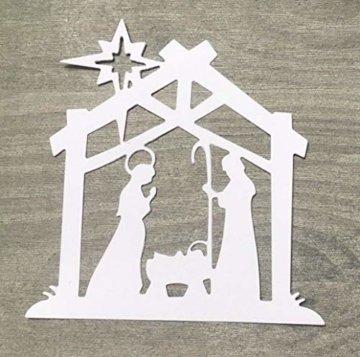 Simplelettering Stanzschablone/Cutting Dies Krippe Weihnachten geeignet für Big Shot - 1