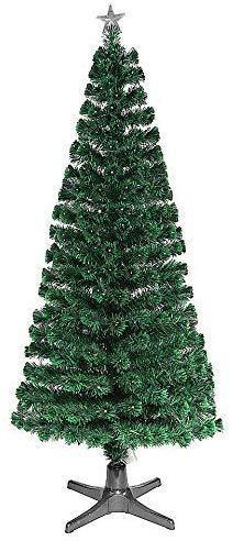 Smak Künstlicher Weihnachtsbaum-Glasfaserleuchtender selbst drehender - Länge 180cm und 210cm - Grün mit LED-farbwechselnden Modus Fernbedienung - 2