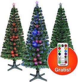 Smak Künstlicher Weihnachtsbaum-Glasfaserleuchtender selbst drehender - Länge 180cm und 210cm - Grün mit LED-farbwechselnden Modus Fernbedienung - 1