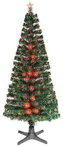 Smak Künstlicher Weihnachtsbaum-Glasfaserleuchtender selbst drehender - Länge 180cm und 210cm - Grün mit LED-farbwechselnden Modus Fernbedienung - 5
