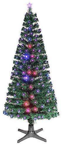Smak Künstlicher Weihnachtsbaum-Glasfaserleuchtender selbst drehender - Länge 180cm und 210cm - Grün mit LED-farbwechselnden Modus Fernbedienung - 6