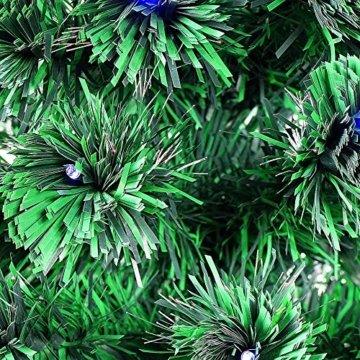Smak Künstlicher Weihnachtsbaum-Glasfaserleuchtender selbst drehender - Länge 180cm und 210cm - Grün mit LED-farbwechselnden Modus Fernbedienung - 7