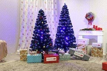 Smak Künstlicher Weihnachtsbaum-Glasfaserleuchtender selbst drehender - Länge 180cm und 210cm - Grün mit LED-farbwechselnden Modus Fernbedienung - 8