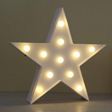 Süße LED Nachtlichter Stimmungslicht Schreibtischlampen Babyzimmer Kinderzimmer Dekorationen Geschenke (Stern, Weiß) - 2