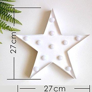 Süße LED Nachtlichter Stimmungslicht Schreibtischlampen Babyzimmer Kinderzimmer Dekorationen Geschenke (Stern, Weiß) - 3