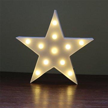 Süße LED Nachtlichter Stimmungslicht Schreibtischlampen Babyzimmer Kinderzimmer Dekorationen Geschenke (Stern, Weiß) - 4