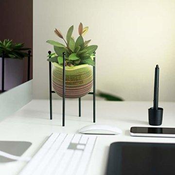 Sukkulentententöpfe 6 Stück – Mini Keramiktöpfe 6,4 cm, kleine Blume, Pflanzgefäß, Bonsai, Kaktus-Topf mit Loch – perfekte dekorative Geschenkidee - 9