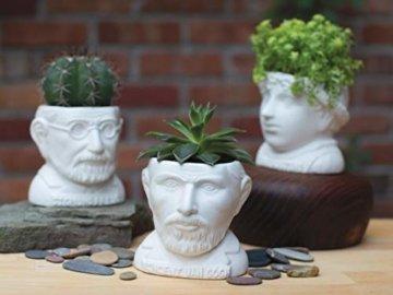 The Unabled Philosophers Guild Vincent Van Gogh Büste Sukkulenten – Pflanzgefäß für kleine Kaktus, Blumen, Kräuter und mehr - 3