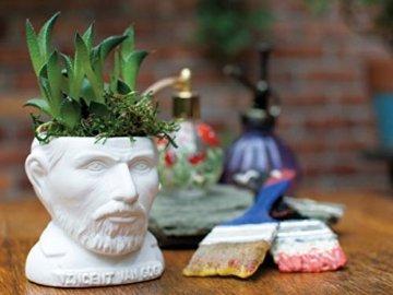 The Unabled Philosophers Guild Vincent Van Gogh Büste Sukkulenten – Pflanzgefäß für kleine Kaktus, Blumen, Kräuter und mehr - 4